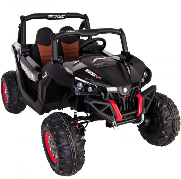 Buggy electric pentru 2 copii Premier 4x4 Superstar, MP4, cu 2 baterii, roti cauciuc EVA, scaun piele ecologica 35