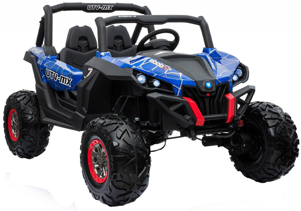 Buggy electric pentru 2 copii Premier 4x4 Superstar, MP4, cu 2 baterii, roti cauciuc EVA, scaun piele ecologica 18
