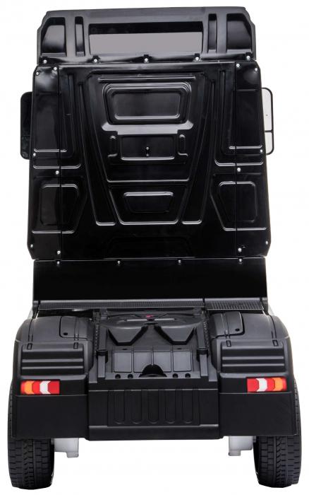 Camion electric Premier Mercedes Actros cu 2 baterii, 4x4, roti cauciuc EVA, scaun piele ecologica, negru [4]