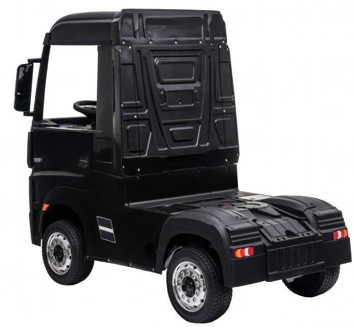 Camion electric Premier Mercedes Actros cu 2 baterii, 4x4, roti cauciuc EVA, scaun piele ecologica, negru [3]