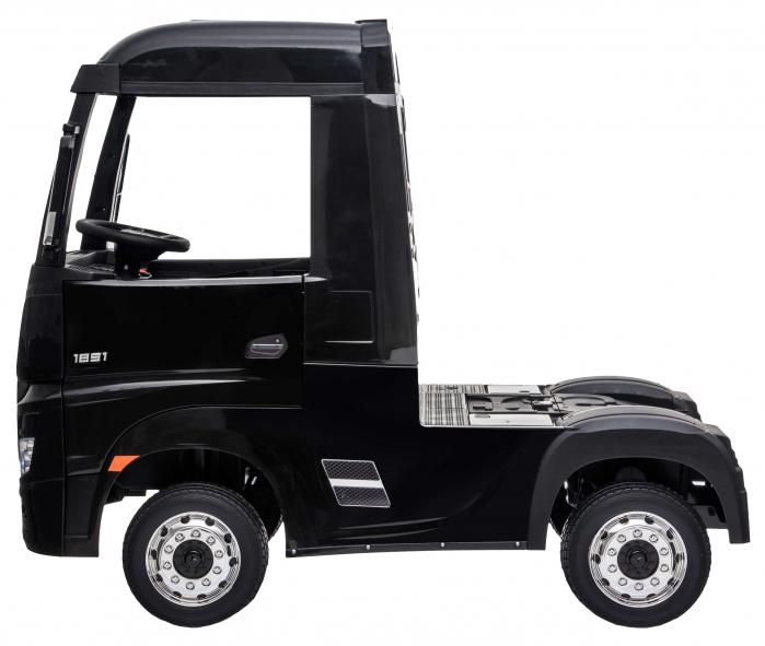Camion electric Premier Mercedes Actros cu 2 baterii, 4x4, roti cauciuc EVA, scaun piele ecologica, negru [2]
