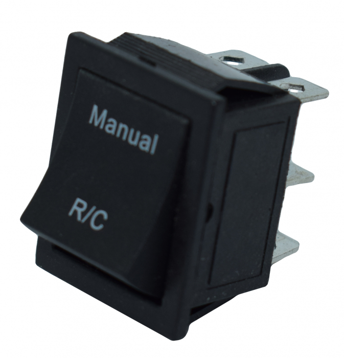 Comutator 2 pozitii manual-telecomanda 3