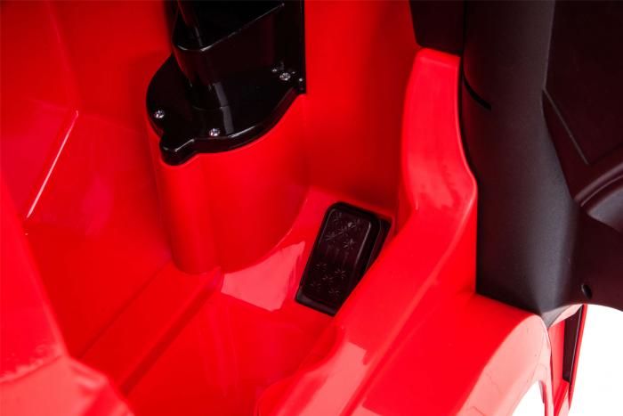 Camion electric Premier Mercedes Actros cu 2 baterii, 4x4, roti cauciuc EVA, scaun piele ecologica, rosu [15]