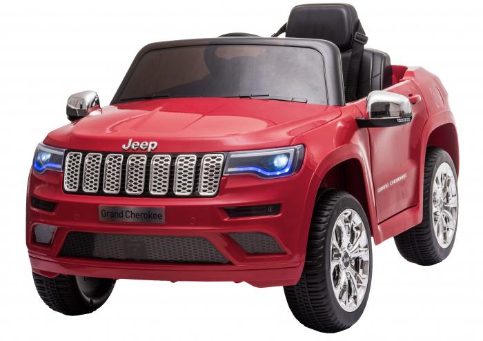 Masinuta electrica Premier Jeep Grand Cherokee, 12V, roti cauciuc EVA, scaun piele ecologica, rosu [0]