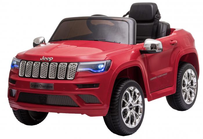 Masinuta electrica Premier Jeep Grand Cherokee, 12V, roti cauciuc EVA, scaun piele ecologica, rosu [5]