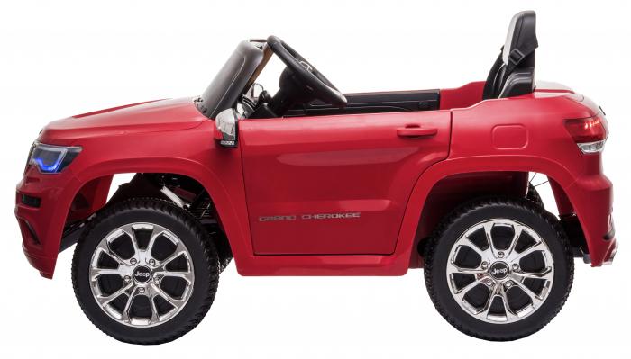 Masinuta electrica Premier Jeep Grand Cherokee, 12V, roti cauciuc EVA, scaun piele ecologica, rosu [7]
