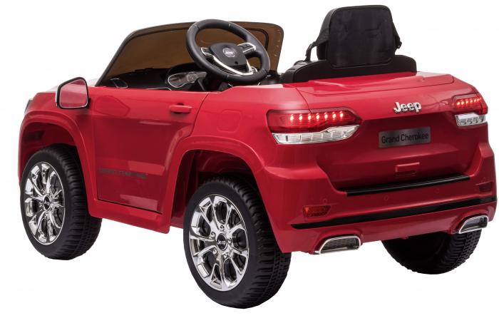 Masinuta electrica Premier Jeep Grand Cherokee, 12V, roti cauciuc EVA, scaun piele ecologica, rosu [8]