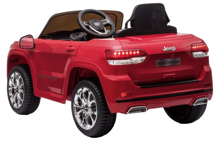 Masinuta electrica Premier Jeep Grand Cherokee, 12V, roti cauciuc EVA, scaun piele ecologica, rosu [9]