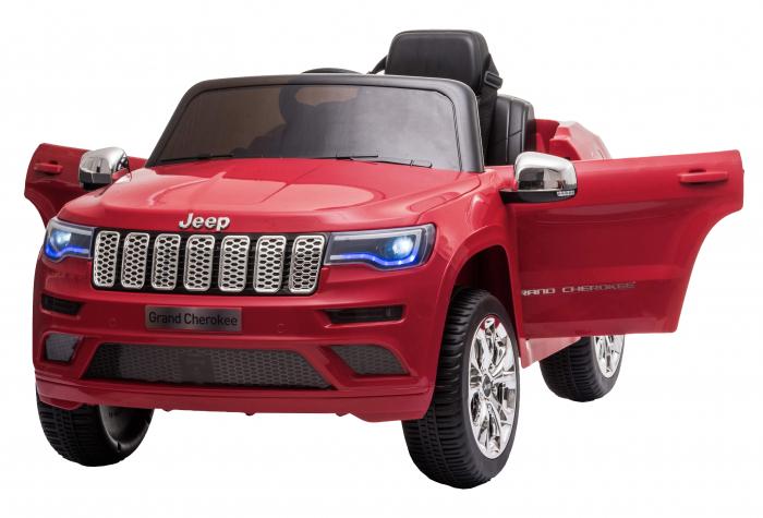 Masinuta electrica Premier Jeep Grand Cherokee, 12V, roti cauciuc EVA, scaun piele ecologica, rosu [1]