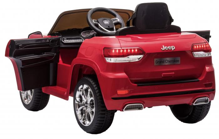 Masinuta electrica Premier Jeep Grand Cherokee, 12V, roti cauciuc EVA, scaun piele ecologica, rosu [13]