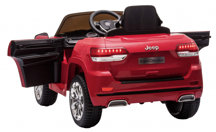 Masinuta electrica Premier Jeep Grand Cherokee, 12V, roti cauciuc EVA, scaun piele ecologica, rosu [14]