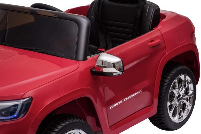 Masinuta electrica Premier Jeep Grand Cherokee, 12V, roti cauciuc EVA, scaun piele ecologica, rosu [18]