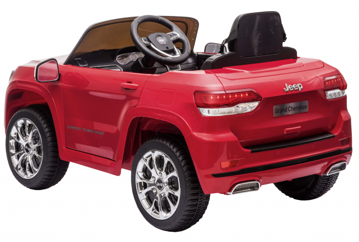 Masinuta electrica Premier Jeep Grand Cherokee, 12V, roti cauciuc EVA, scaun piele ecologica, rosu [19]