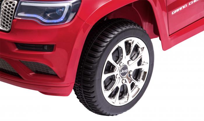 Masinuta electrica Premier Jeep Grand Cherokee, 12V, roti cauciuc EVA, scaun piele ecologica, rosu [20]