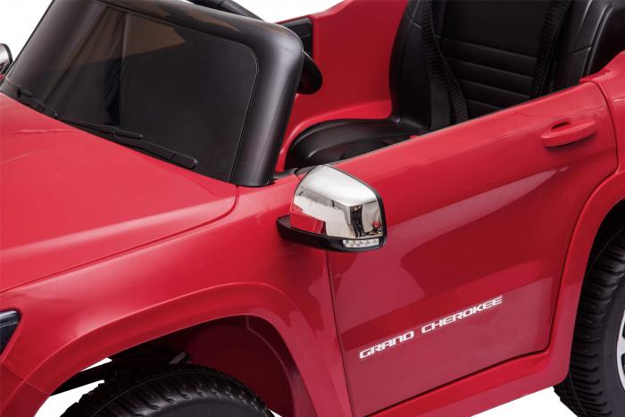 Masinuta electrica Premier Jeep Grand Cherokee, 12V, roti cauciuc EVA, scaun piele ecologica, rosu [21]