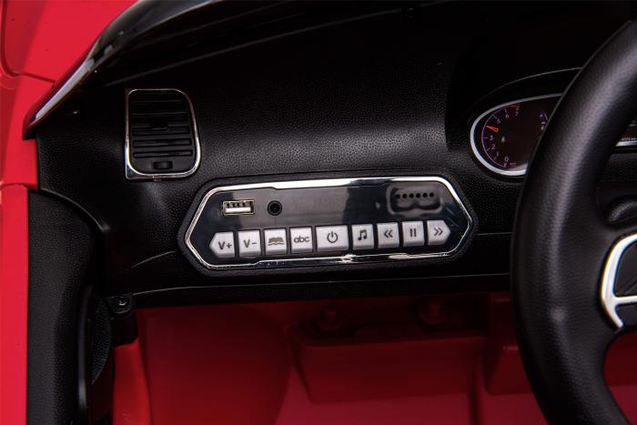 Masinuta electrica Premier Jeep Grand Cherokee, 12V, roti cauciuc EVA, scaun piele ecologica, rosu [27]