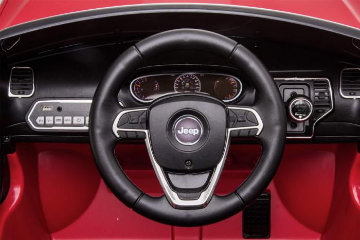 Masinuta electrica Premier Jeep Grand Cherokee, 12V, roti cauciuc EVA, scaun piele ecologica, rosu [28]