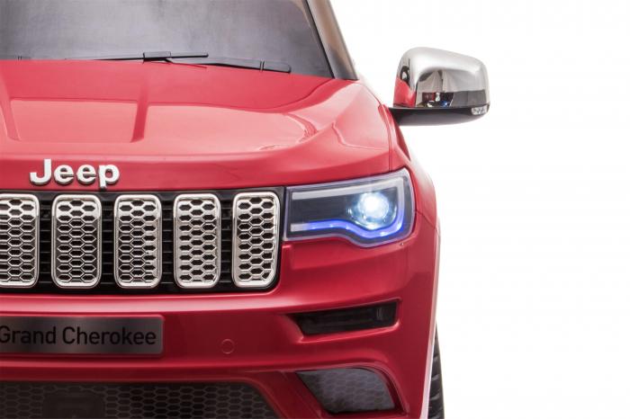 Masinuta electrica Premier Jeep Grand Cherokee, 12V, roti cauciuc EVA, scaun piele ecologica, rosu [35]