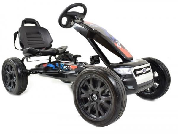 Kart Ford cu pedale pentru copii, roti cauciuc Eva 1