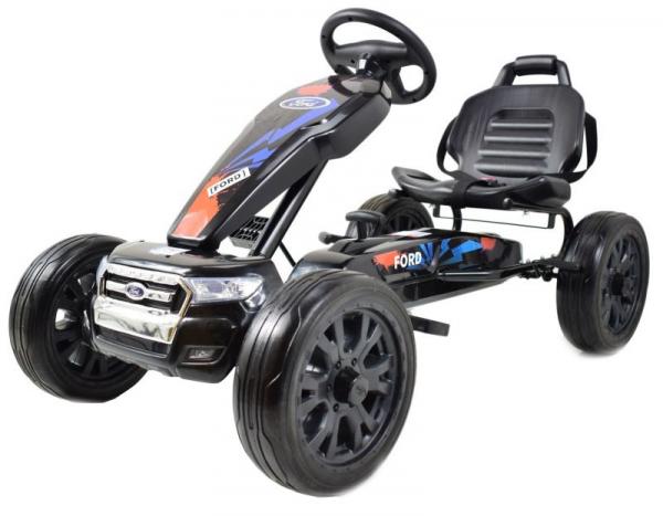 Kart Ford cu pedale pentru copii, roti cauciuc Eva 0