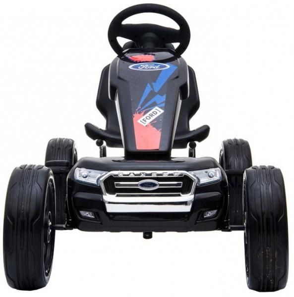 Kart Ford cu pedale pentru copii, roti cauciuc Eva 2