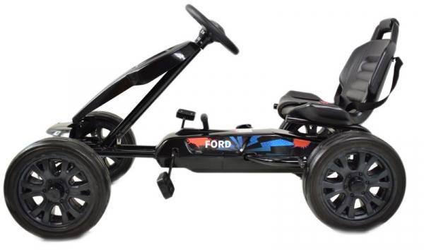 Kart Ford cu pedale pentru copii, roti cauciuc Eva 3
