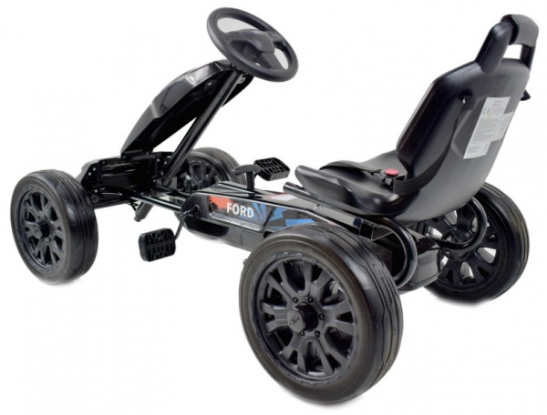 Kart Ford cu pedale pentru copii, roti cauciuc Eva 4