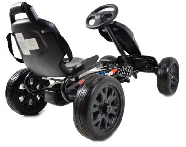Kart Ford cu pedale pentru copii, roti cauciuc Eva 5