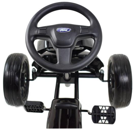 Kart Ford cu pedale pentru copii, roti cauciuc Eva 10