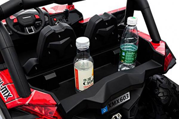 Buggy electric pentru 2 copii Premier 4x4 Superstar, MP4, cu 2 baterii, roti cauciuc EVA, scaun piele ecologica 7