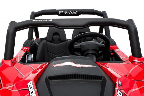 Buggy electric pentru 2 copii Premier 4x4 Superstar, MP4, cu 2 baterii, roti cauciuc EVA, scaun piele ecologica 9