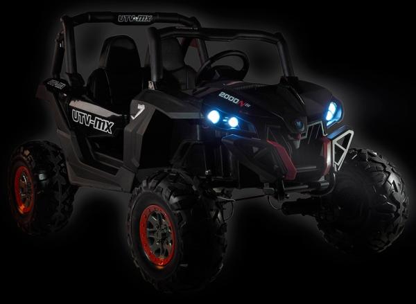 Buggy electric pentru 2 copii Premier 4x4 Superstar, MP4, cu 2 baterii, roti cauciuc EVA, scaun piele ecologica 2