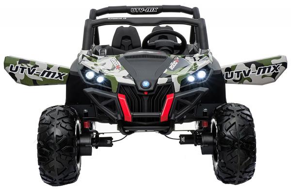 Buggy electric pentru 2 copii Premier 4x4 Superstar, cu 2 baterii, roti cauciuc EVA, scaun piele ecologica, camuflaj [2]