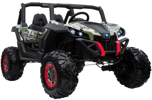 Buggy electric pentru 2 copii Premier 4x4 Superstar, cu 2 baterii, roti cauciuc EVA, scaun piele ecologica, camuflaj [1]
