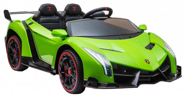 Masinuta electrica 4 x 4 Premier Lamborghini Veneno, 12V, roti cauciuc EVA, scaun piele ecologica, verde [6]