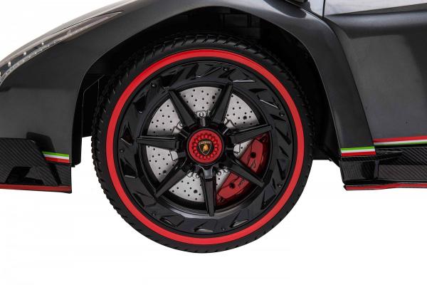 Masinuta electrica 4 x 4 Premier Lamborghini Veneno, 12V, roti cauciuc EVA, scaun piele ecologica, argintiu 10