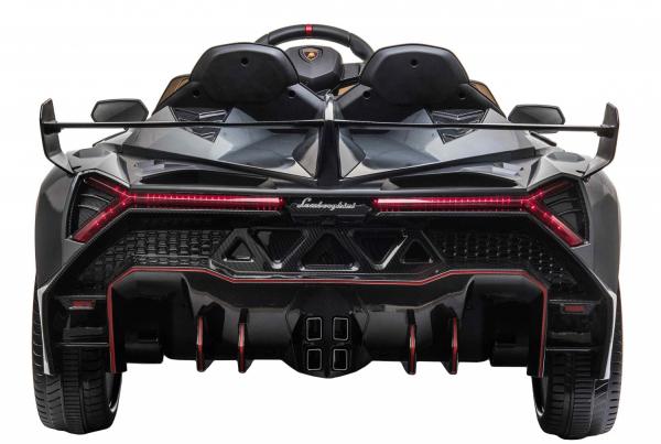 Masinuta electrica 4 x 4 Premier Lamborghini Veneno, 12V, roti cauciuc EVA, scaun piele ecologica, argintiu 6