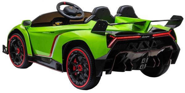 Masinuta electrica 4 x 4 Premier Lamborghini Veneno, 12V, roti cauciuc EVA, scaun piele ecologica, verde [4]