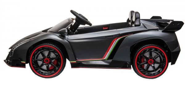 Masinuta electrica 4 x 4 Premier Lamborghini Veneno, 12V, roti cauciuc EVA, scaun piele ecologica, argintiu 3