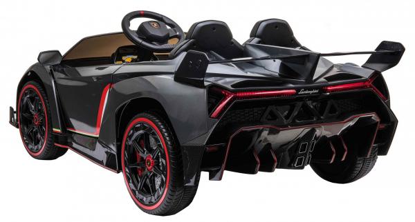 Masinuta electrica 4 x 4 Premier Lamborghini Veneno, 12V, roti cauciuc EVA, scaun piele ecologica, argintiu 5