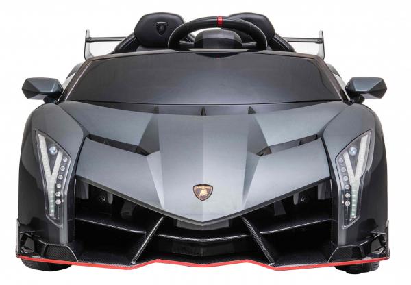 Masinuta electrica 4 x 4 Premier Lamborghini Veneno, 12V, roti cauciuc EVA, scaun piele ecologica, argintiu 1