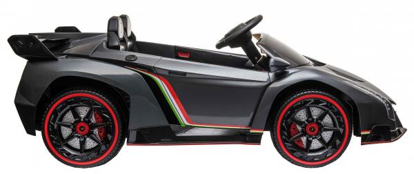 Masinuta electrica 4 x 4 Premier Lamborghini Veneno, 12V, roti cauciuc EVA, scaun piele ecologica, argintiu 4