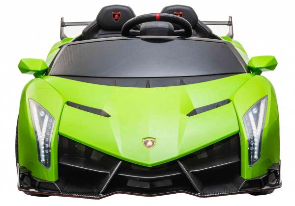 Masinuta electrica 4 x 4 Premier Lamborghini Veneno, 12V, roti cauciuc EVA, scaun piele ecologica, verde [1]