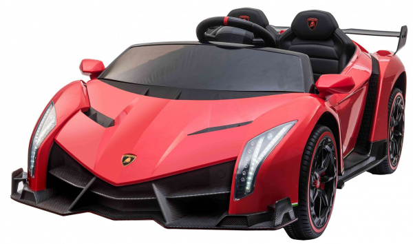 Masinuta electrica 4 x 4 Premier Lamborghini Veneno, 12V, roti cauciuc EVA, scaun piele ecologica, rosu 0