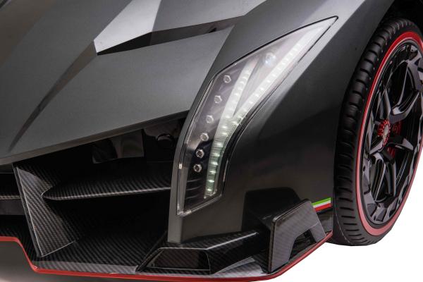 Masinuta electrica 4 x 4 Premier Lamborghini Veneno, 12V, roti cauciuc EVA, scaun piele ecologica, argintiu 8