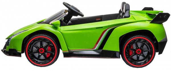 Masinuta electrica 4 x 4 Premier Lamborghini Veneno, 12V, roti cauciuc EVA, scaun piele ecologica, verde [3]