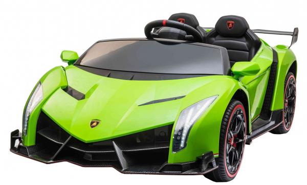 Masinuta electrica 4 x 4 Premier Lamborghini Veneno, 12V, roti cauciuc EVA, scaun piele ecologica, verde [0]