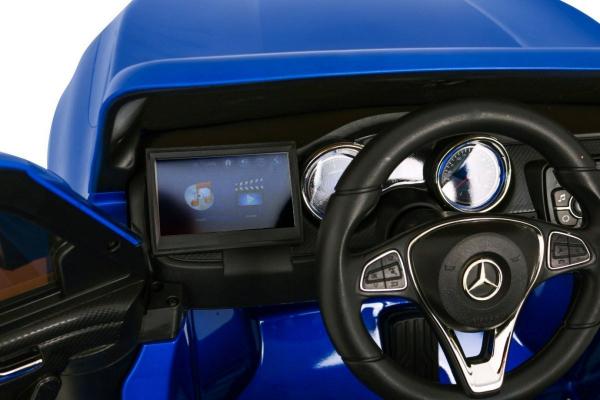 Masinuta electrica 4 x 4 Premier Mercedes X-Class, 12V, ecran LCD, MP4, roti cauciuc EVA, scaun piele ecologica, albastru 9