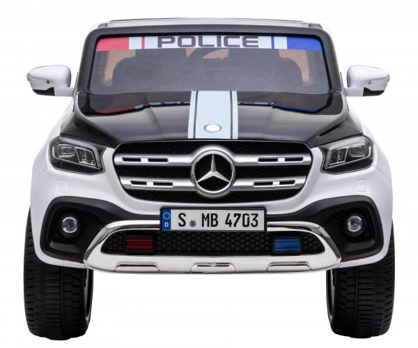 Masinuta electrica 4 x 4 Premier Mercedes X-Class Police, 12V, roti cauciuc EVA, scaun piele ecologica, alb 1