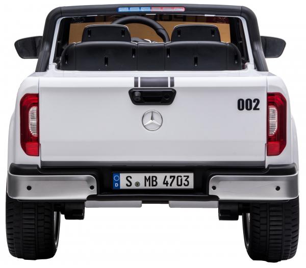 Masinuta electrica 4 x 4 Premier Mercedes X-Class Police, 12V, roti cauciuc EVA, scaun piele ecologica, alb [5]